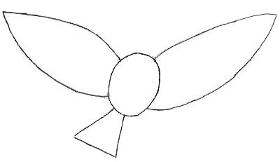 Как рисовать птиц, шаг 2