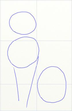 Как нарисовать кота, шаг 1