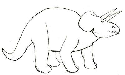 Рисунок динозавра, шаг 4