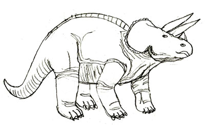 Рисунок динозавра, шаг 5