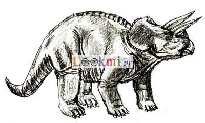 Рисунок динозавра, шаг 6