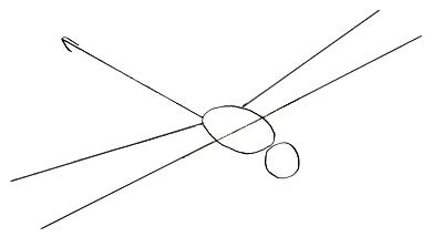 Как нарисовать стрекозу, шаг 2