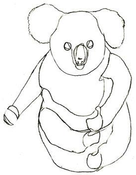 Как нарисовать коалу, шаг 5