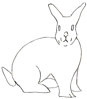 Как нарисовать кролика, шаг 4