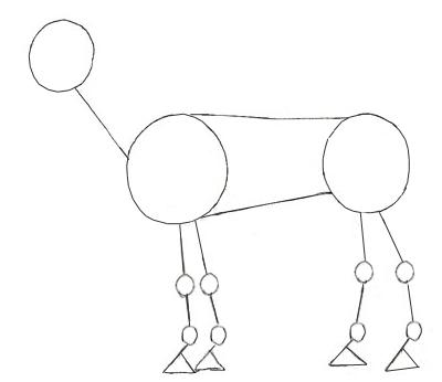 Как нарисовать лошадь, шаг 2