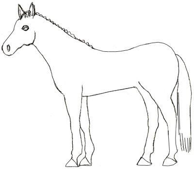 Как нарисовать лошадь, шаг 4