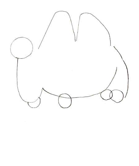 Как нарисовать верблюда, шаг 2