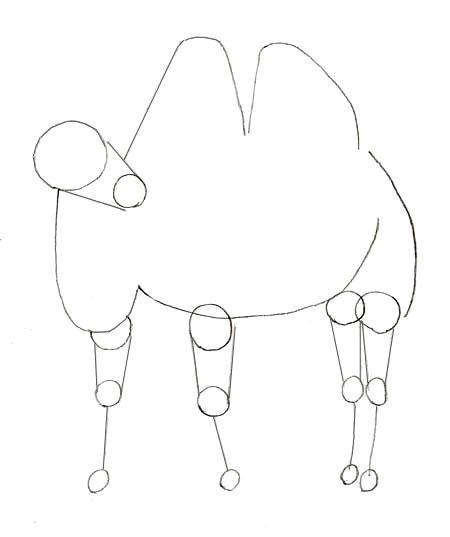 Как нарисовать верблюда, шаг 3
