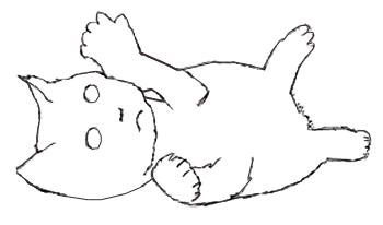 Как нарисовать котенка, шаг 3