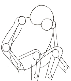 Как нарисовать обезьяну, шаг 3