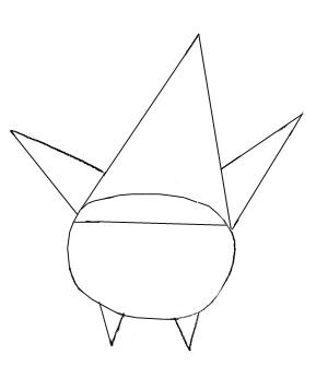 Как нарисовать Патрика, шаг 2