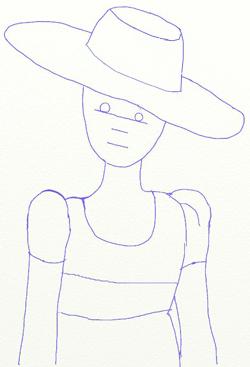 Как нарисовать девочку, шаг 5