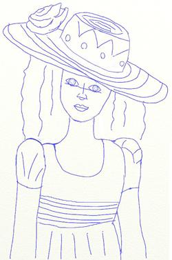 Как нарисовать девочку, шаг 6