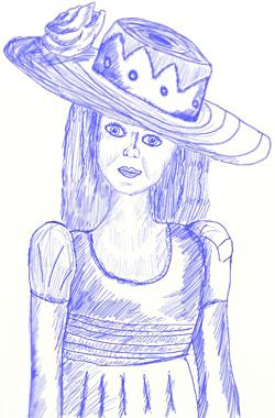 Как нарисовать девочку, шаг 7