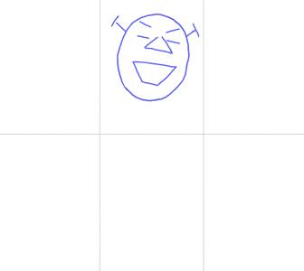 Как нарисовать Шрека, шаг 1