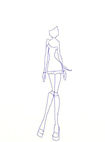 Как нарисовать Винкс, шаг 3