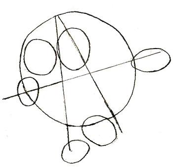 Рисунки смешариков, шаг 2
