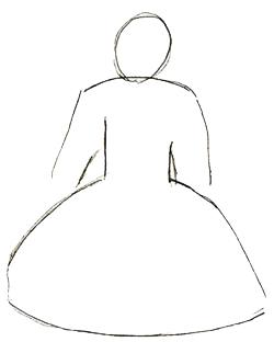 Как нарисовать куклу, шаг 2