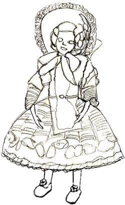 Как нарисовать куклу, шаг 6