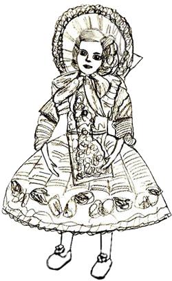 Как нарисовать куклу, шаг 7