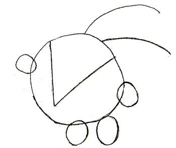 Как нарисовать смешариков, шаг 2