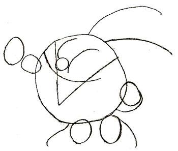 Как нарисовать смешариков, шаг 3