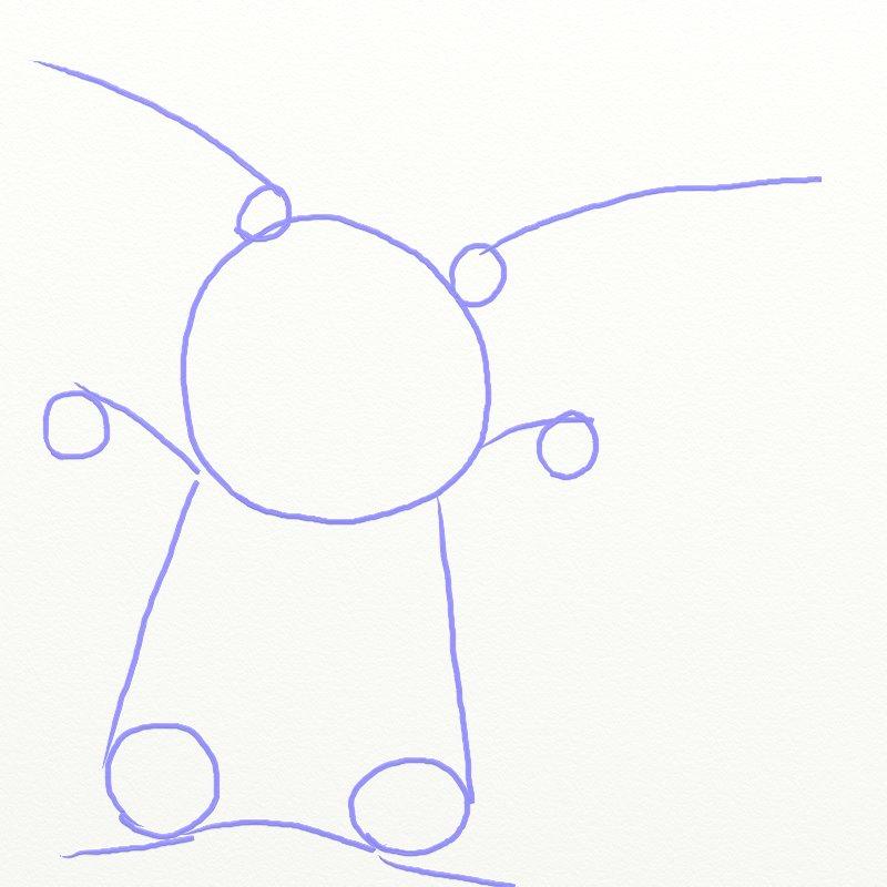 Как нарисовать Покемона, шаг 3