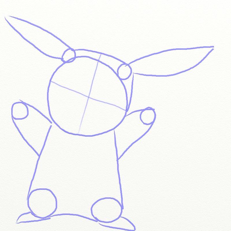 Как нарисовать Покемона, шаг 4