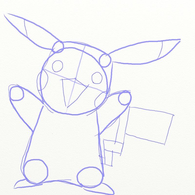 Как нарисовать Покемона, шаг 5