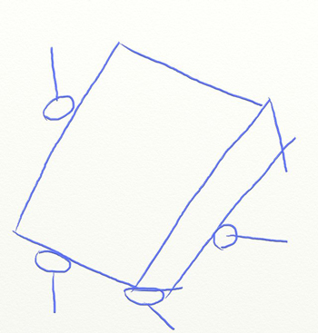 Как нарисовать Губку Боба, шаг 2