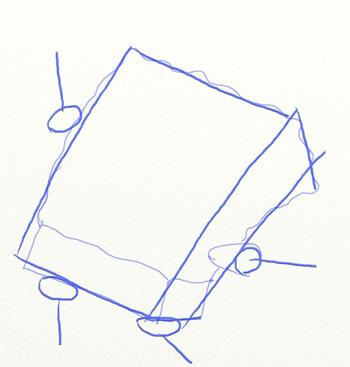 Как нарисовать Губку Боба, шаг 3