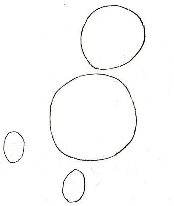 Как нарисовать Винни Пуха, шаг 1
