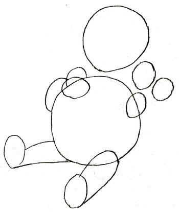 Как нарисовать Винни Пуха, шаг 2