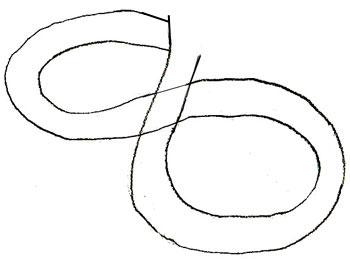 Как нарисовать змею, шаг 1
