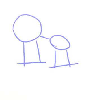 Как нарисовать лису, шаг 1