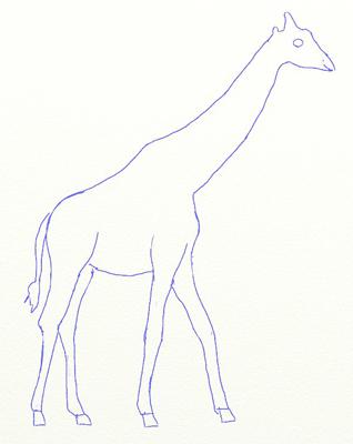 Как нарисовать жирафа, шаг 4