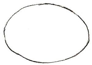 Как нарисовать божью коровку, шаг 1