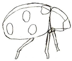 Как нарисовать божью коровку, шаг 4
