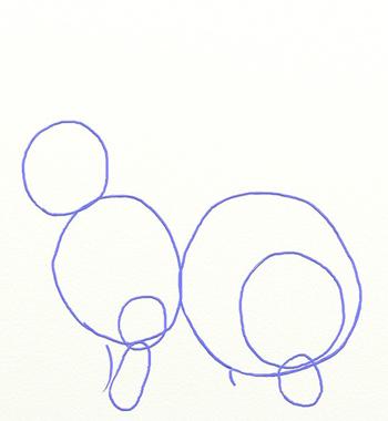 Как нарисовать зайца, шаг 2