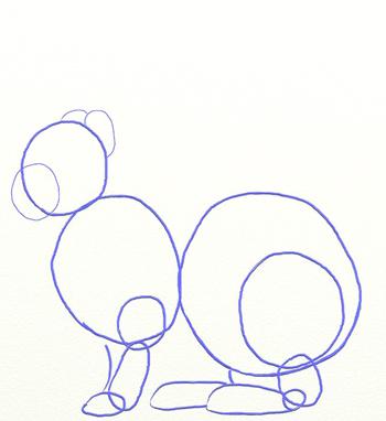 Как нарисовать зайца, шаг 3