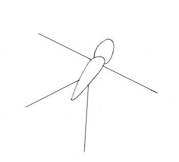 Как нарисовать бабочку, шаг 1