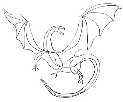 Как нарисовать дракона, шаг 4