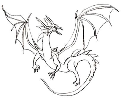 Как нарисовать дракона, шаг 5