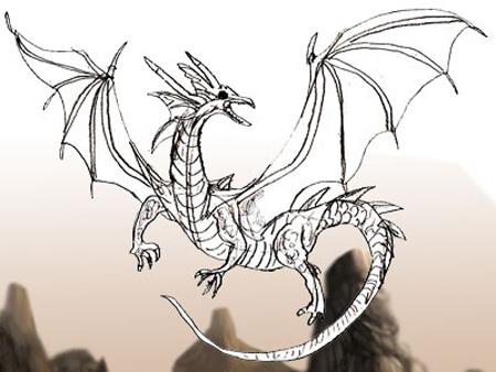 Как нарисовать дракона поэтапно
