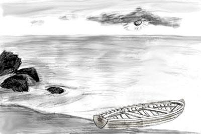 Как рисовать море, шаг 5