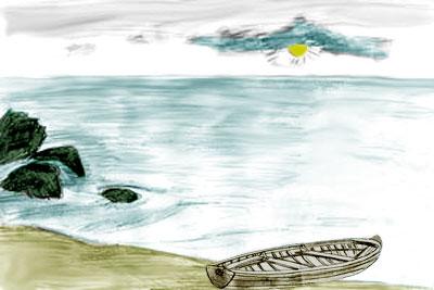 Как нарисовать море карандашом