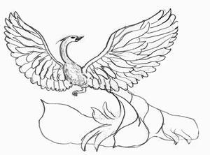 Как рисовать Жар-птицу, шаг 4