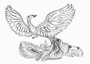 Как нарисовать сказочную Жар-птицу ку карандашом поэтапно