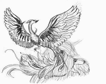 Как рисовать Жар-птицу, шаг 6