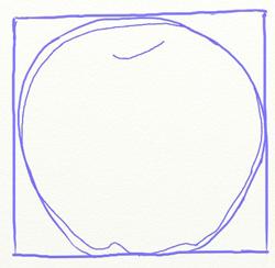 Как нарисовать яблоко, шаг 3